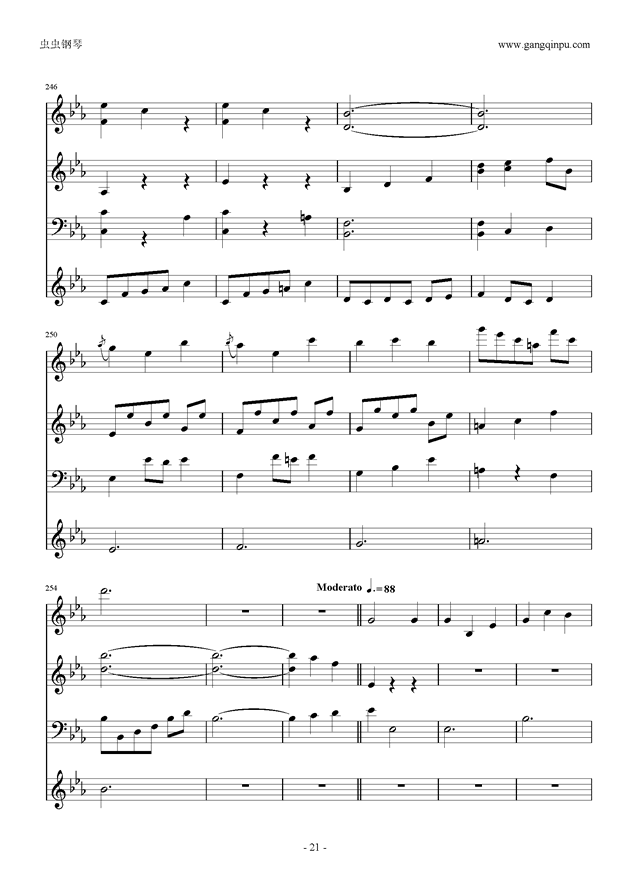 Moon Bridge钢琴谱 第21页