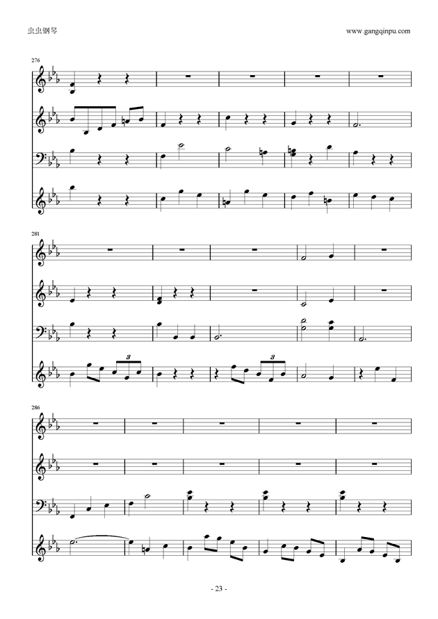 Moon Bridge钢琴谱 第23页