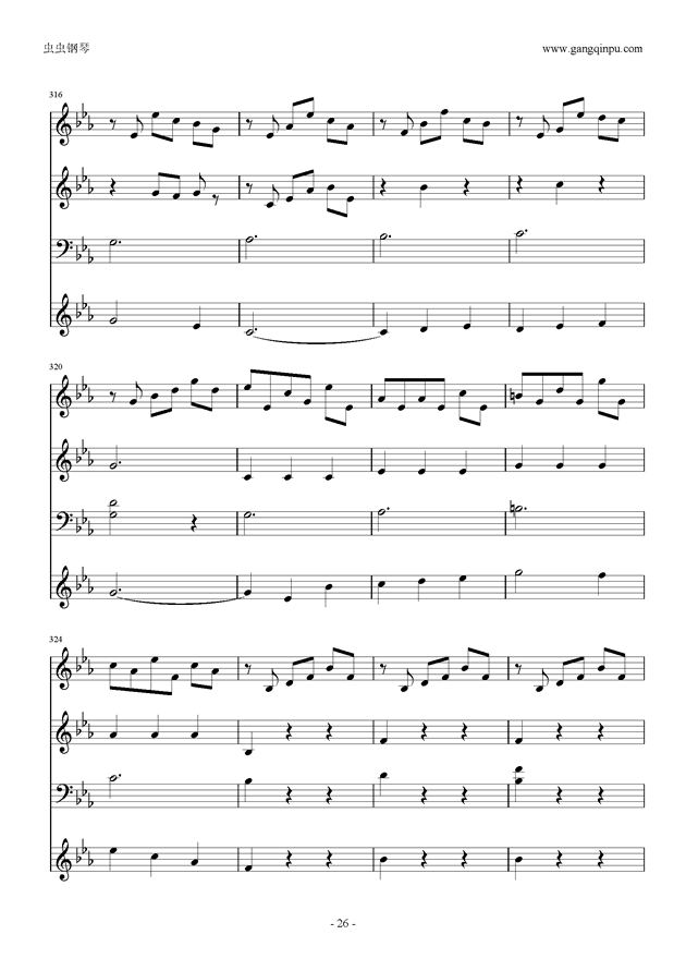 Moon Bridge钢琴谱 第26页