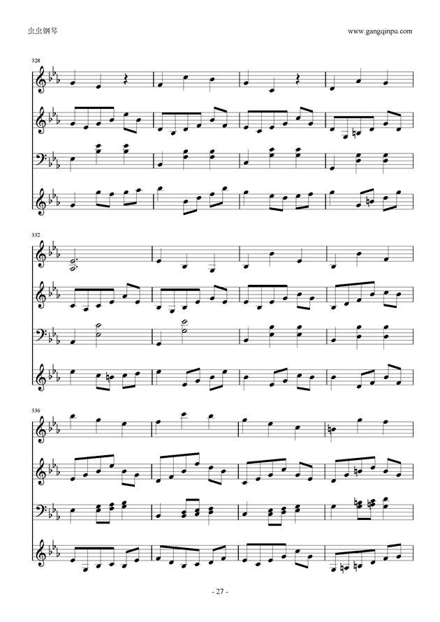 Moon Bridge钢琴谱 第27页