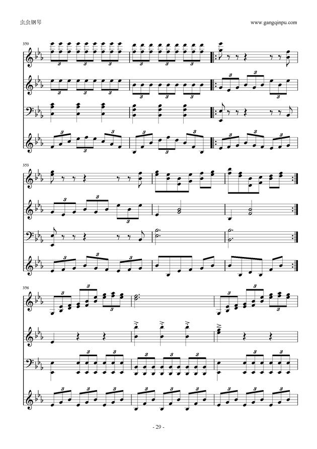 Moon Bridge钢琴谱 第29页