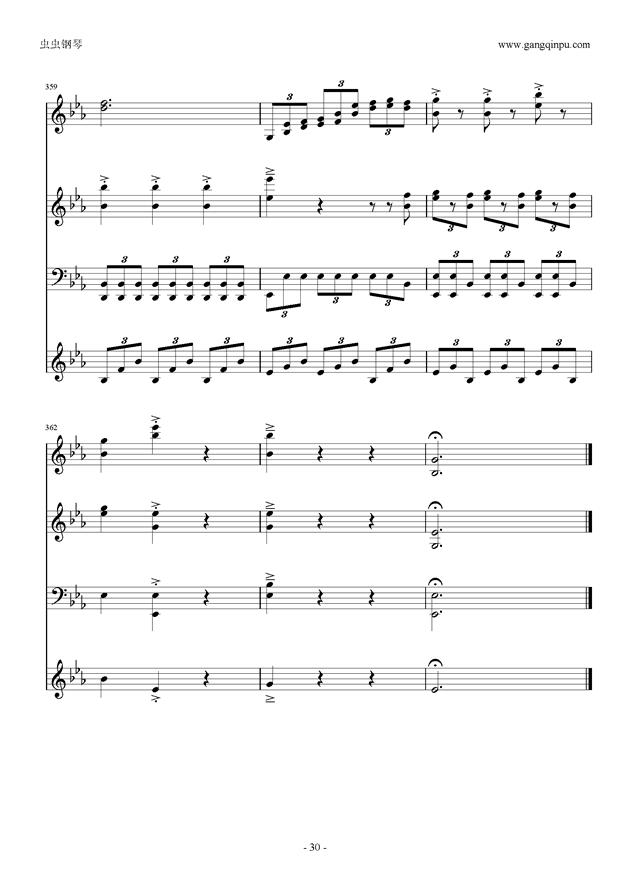 Moon Bridge钢琴谱 第30页