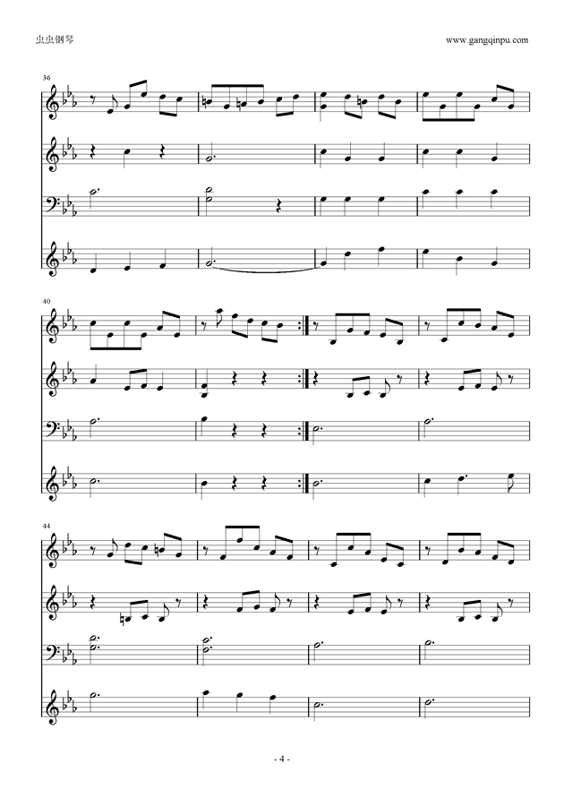 Moon Bridge钢琴谱 第4页