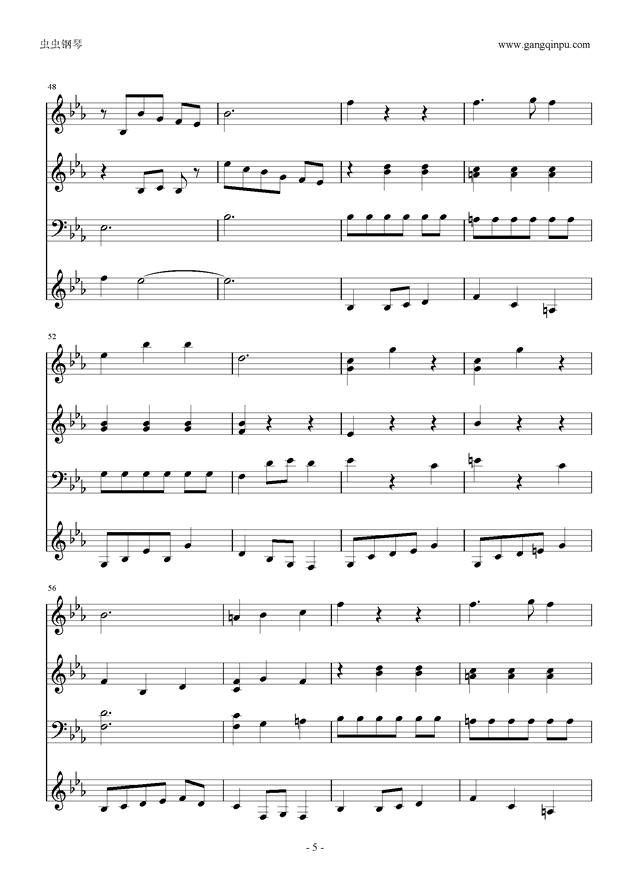 Moon Bridge钢琴谱 第5页