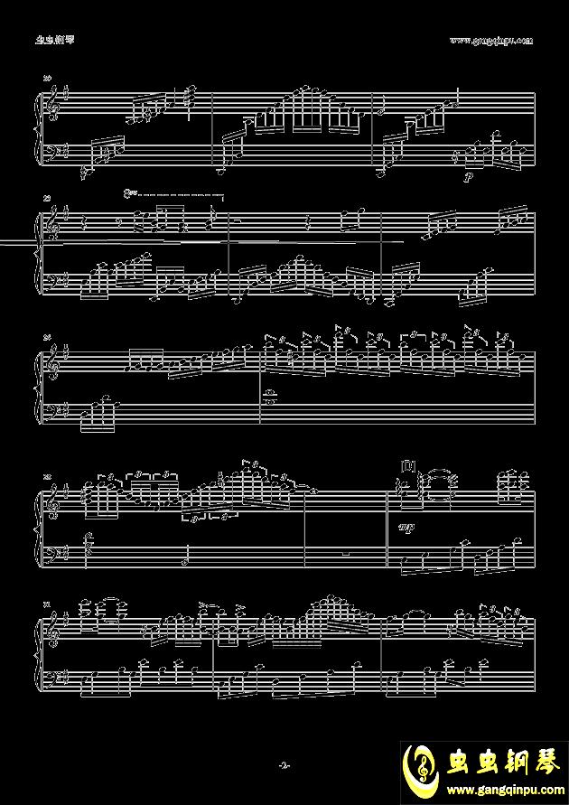 Unfinished钢琴谱 第2页