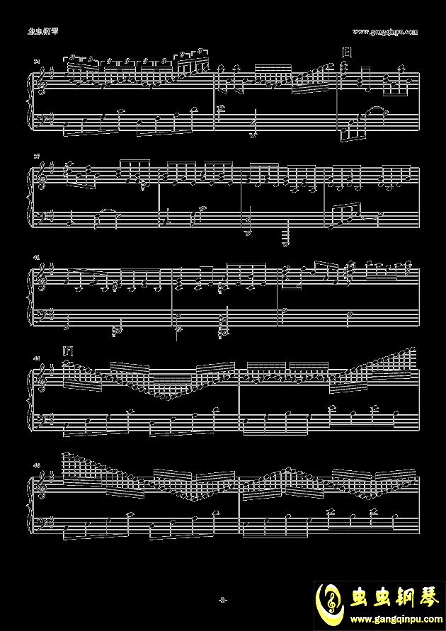 Unfinished钢琴谱 第3页
