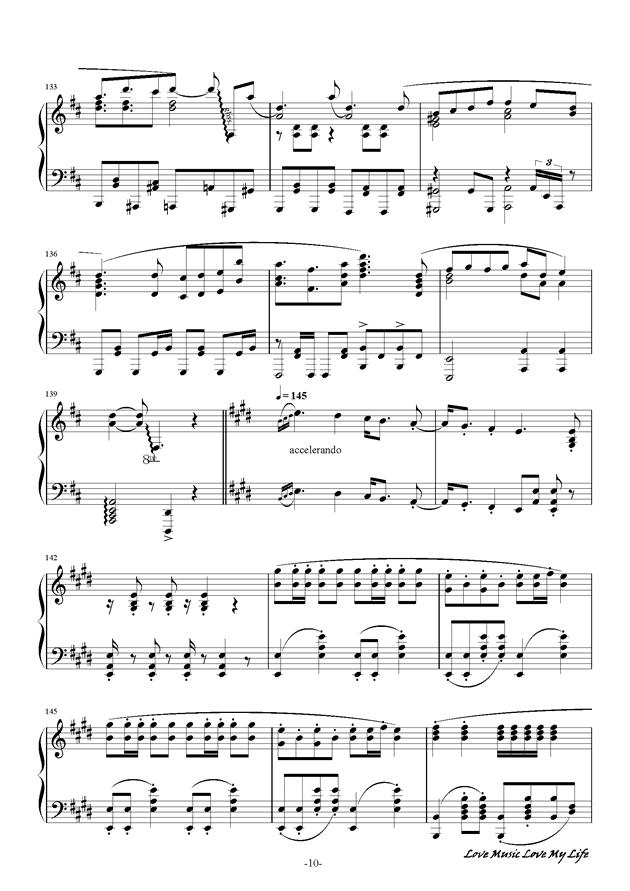 触手猴钢琴谱 第10页