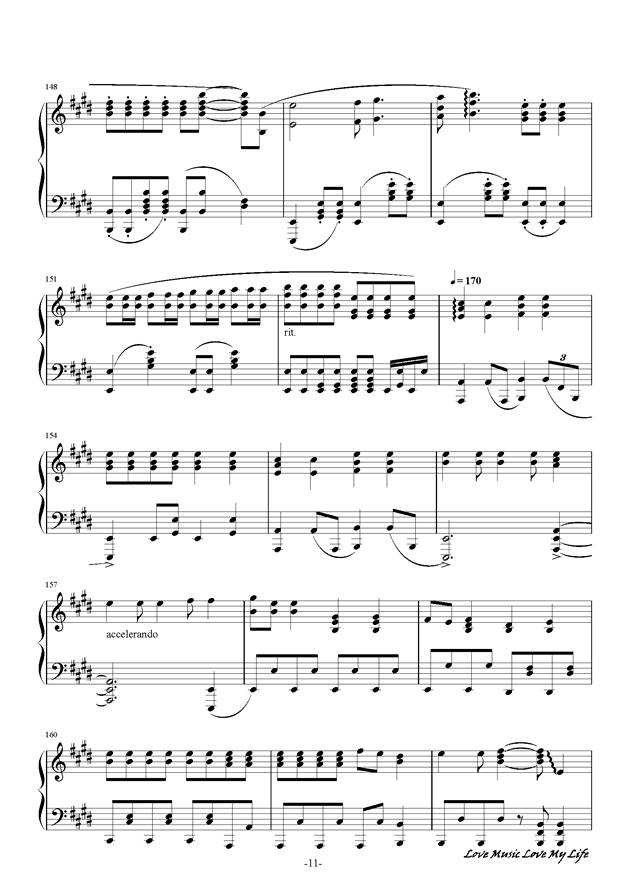 触手猴钢琴谱 第11页