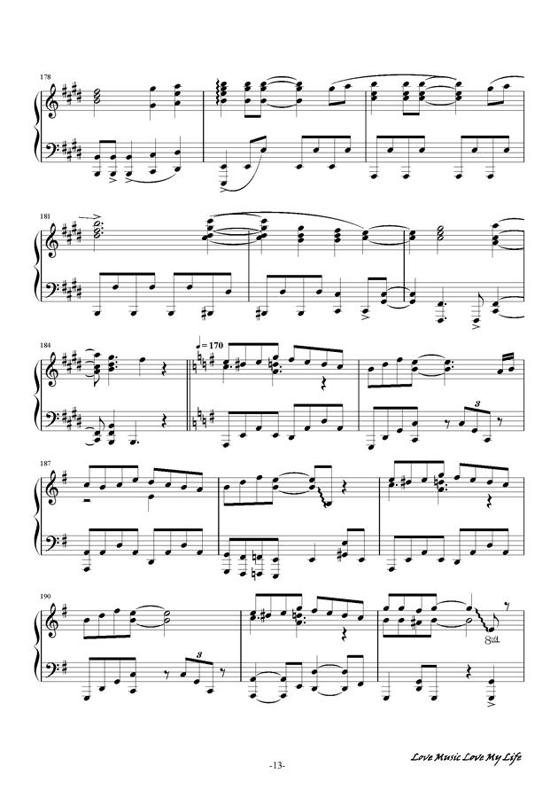 触手猴钢琴谱 第13页
