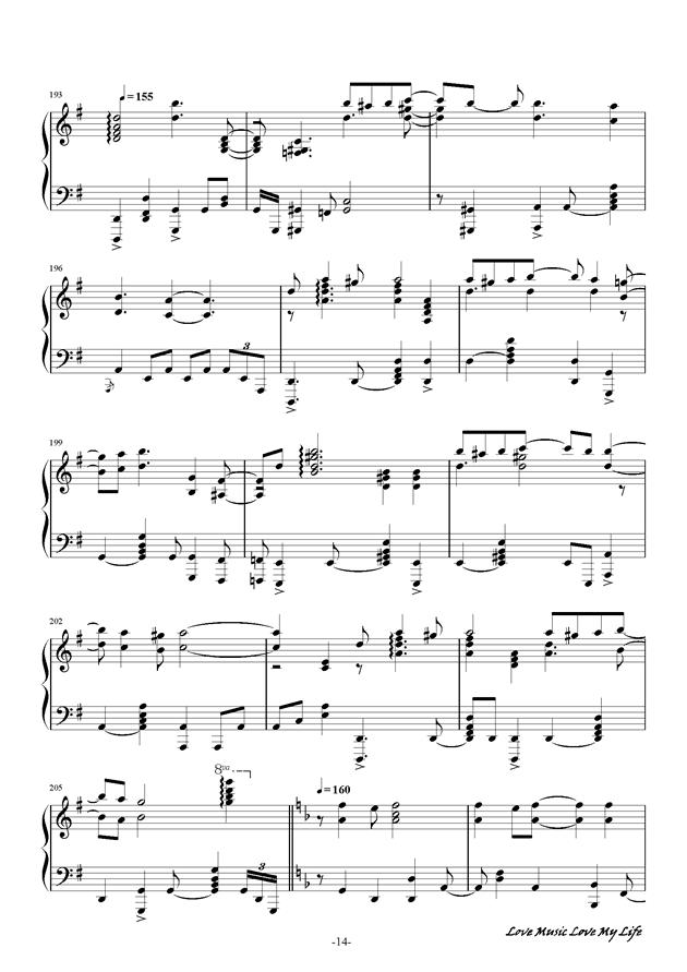 触手猴钢琴谱 第14页