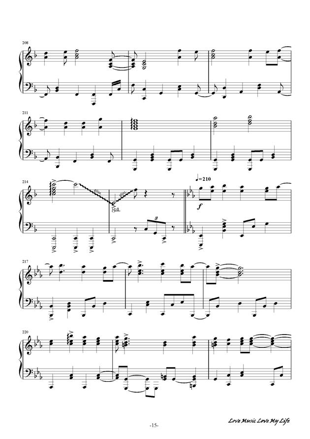 触手猴钢琴谱 第15页