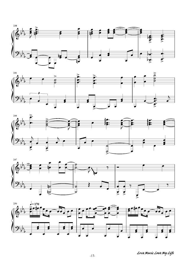 触手猴钢琴谱 第17页