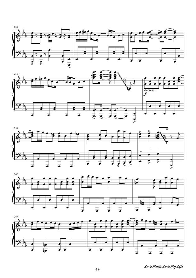 触手猴钢琴谱 第18页