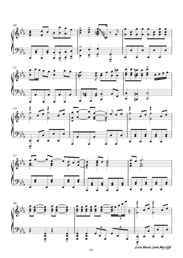 触手猴钢琴谱 第19页