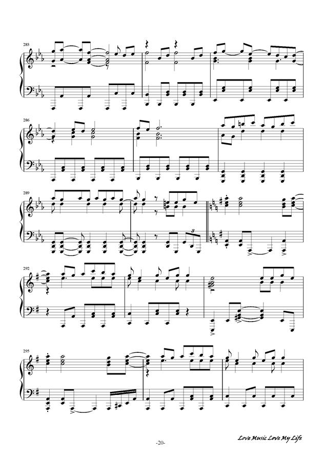 触手猴钢琴谱 第20页