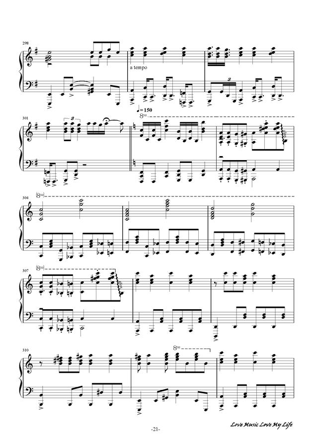 触手猴钢琴谱 第21页