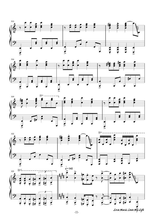 触手猴钢琴谱 第22页