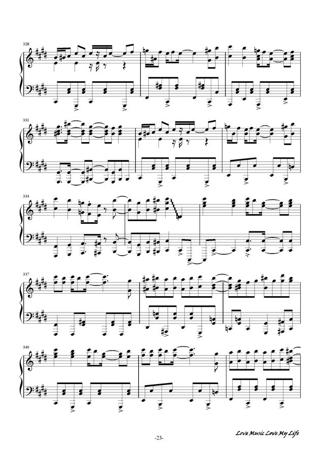 触手猴钢琴谱 第23页
