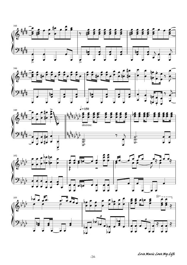 触手猴钢琴谱 第24页