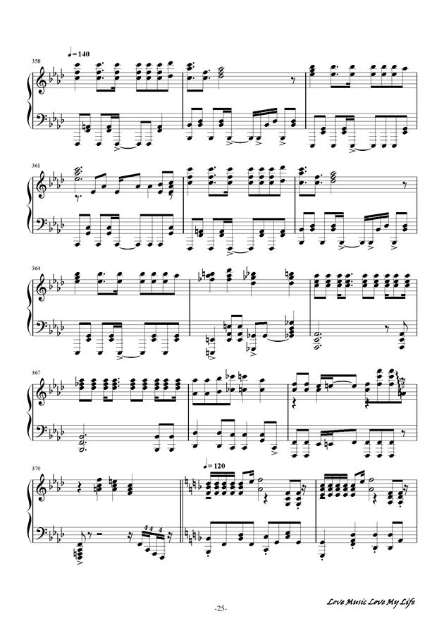 触手猴钢琴谱 第25页