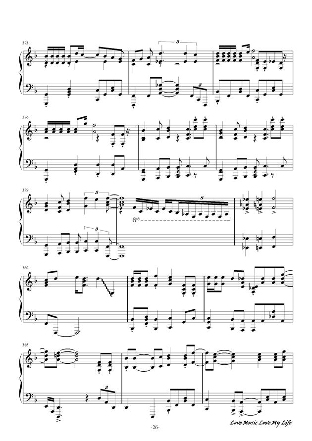 触手猴钢琴谱 第26页