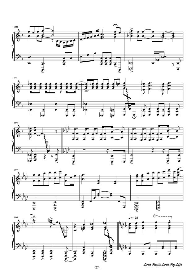 触手猴钢琴谱 第27页