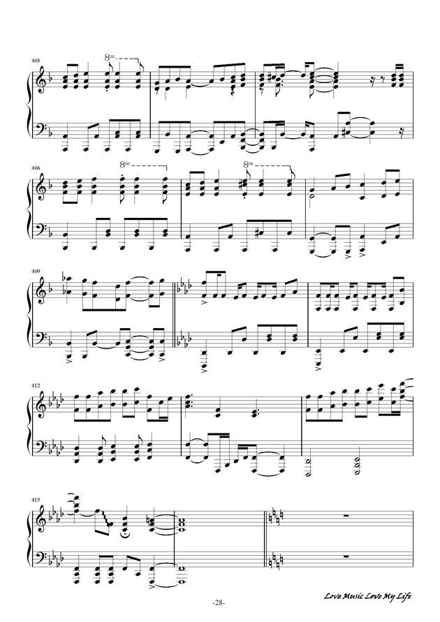 触手猴钢琴谱 第28页