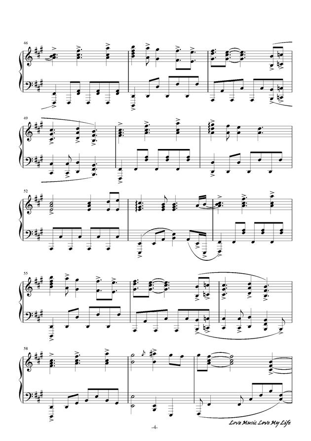 触手猴钢琴谱 第4页