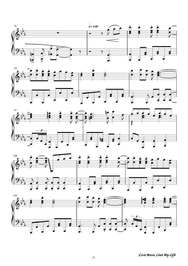 触手猴钢琴谱 第7页