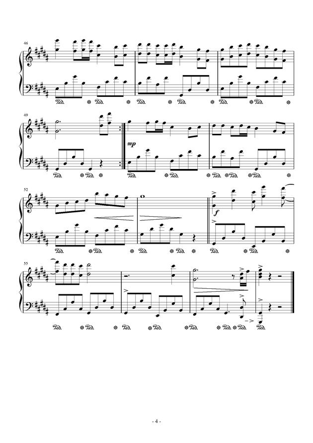菊花爆满山钢琴谱 第4页