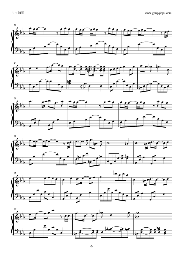 RED LUNACY short.钢琴谱 第2页