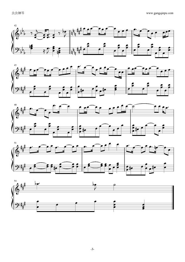 RED LUNACY short.钢琴谱 第3页