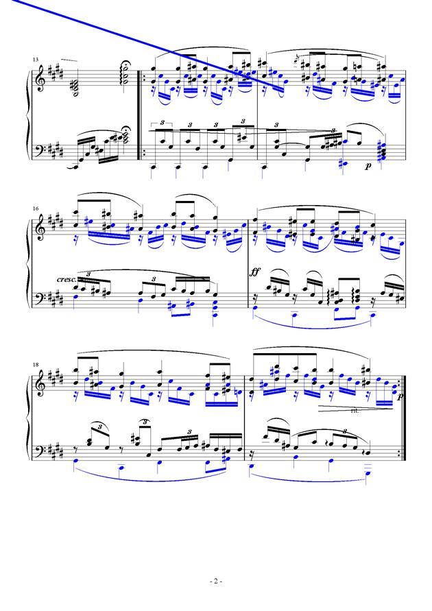 For Debussy's Fantasy钢琴谱 第2页