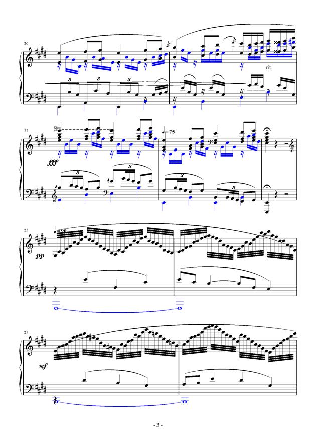For Debussy's Fantasy钢琴谱 第3页