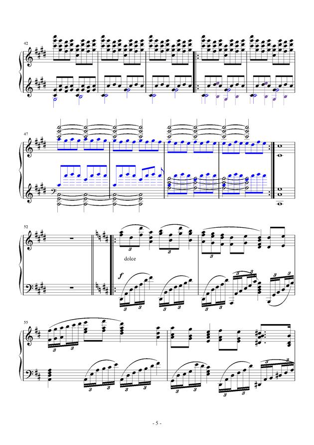 For Debussy's Fantasy钢琴谱 第5页