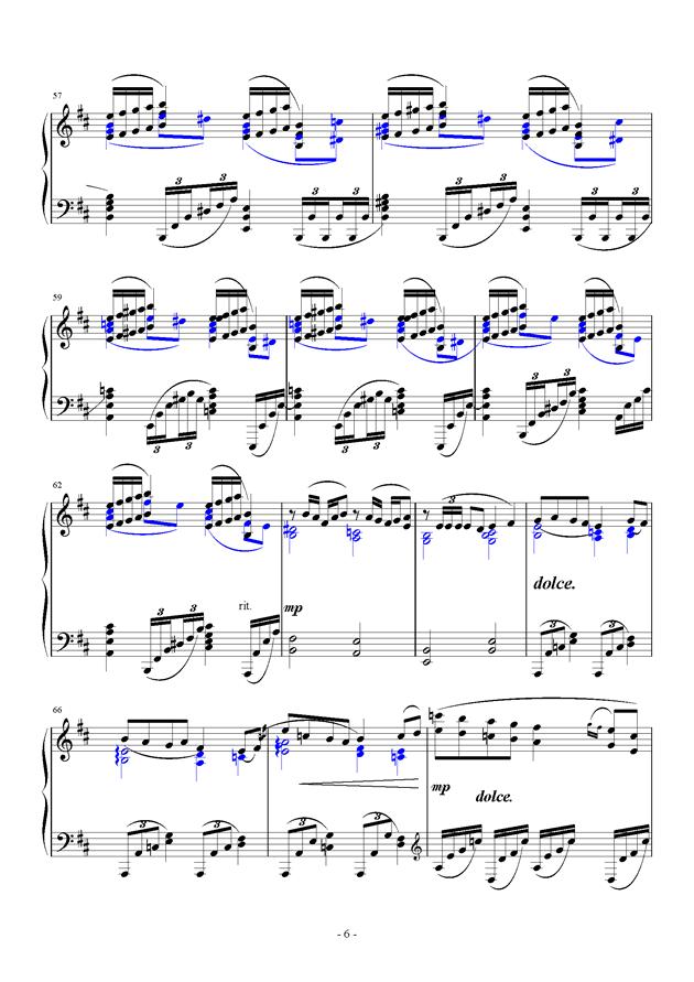 For Debussy's Fantasy钢琴谱 第6页