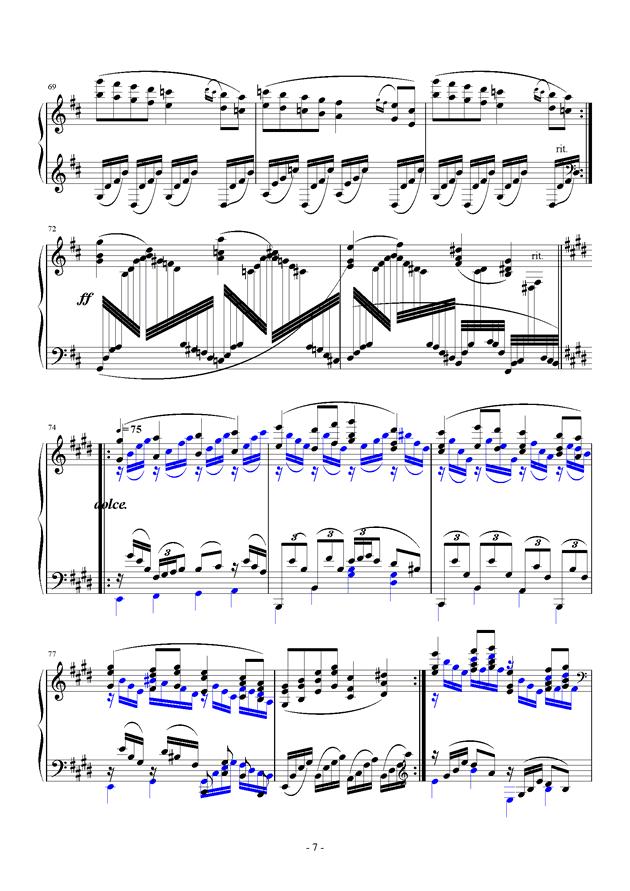 For Debussy's Fantasy钢琴谱 第7页