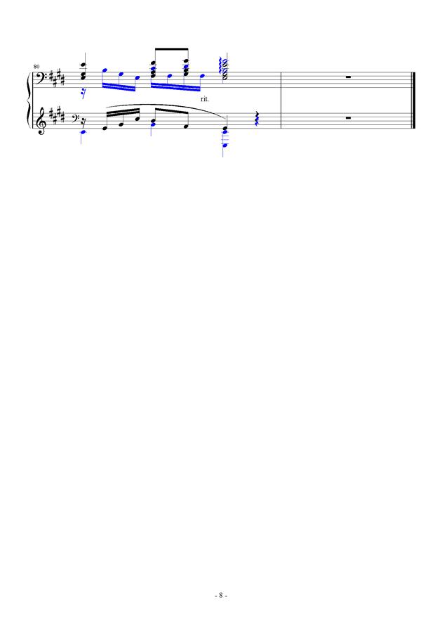 For Debussy's Fantasy钢琴谱 第8页