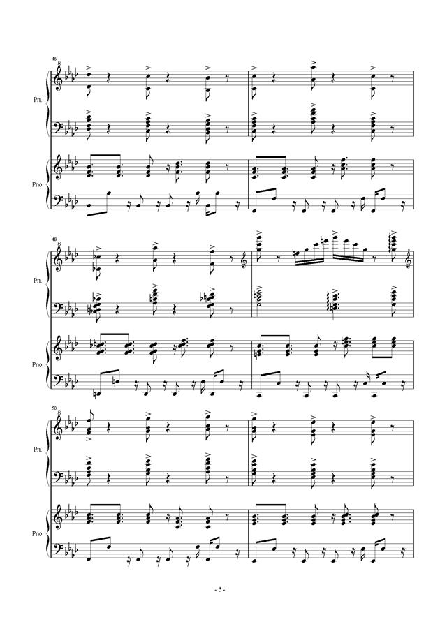伴奏曲钢琴谱 第5页