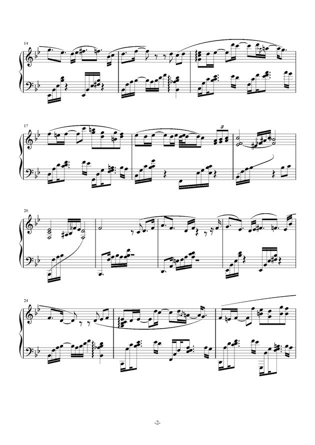 苍穹之光钢琴谱 第2页