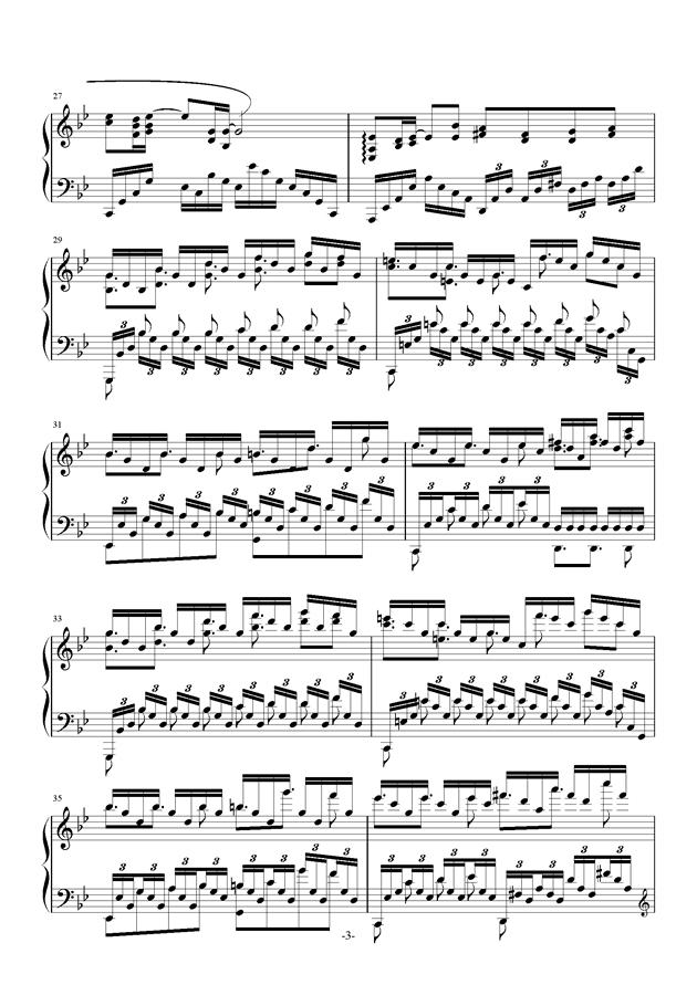 苍穹之光钢琴谱 第3页