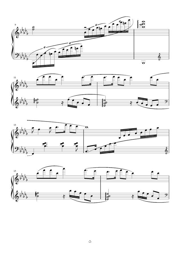 南国�F天钢琴谱 第2页