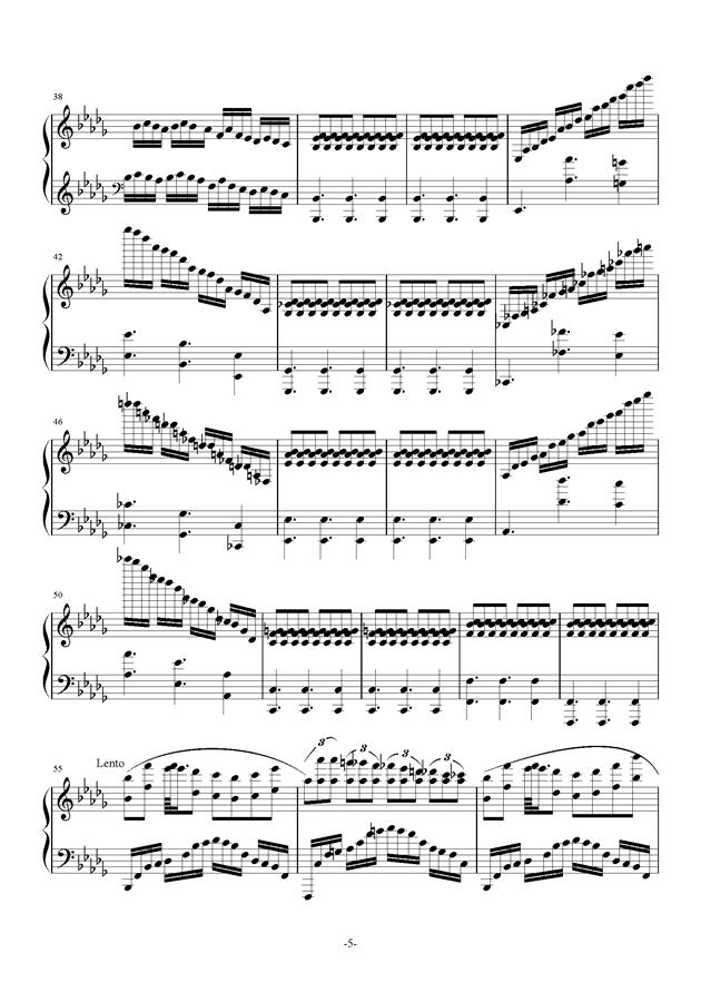 南国�F天钢琴谱 第5页