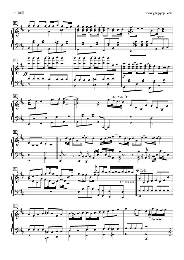 ぽっぴんジャンプ钢琴谱 第2页