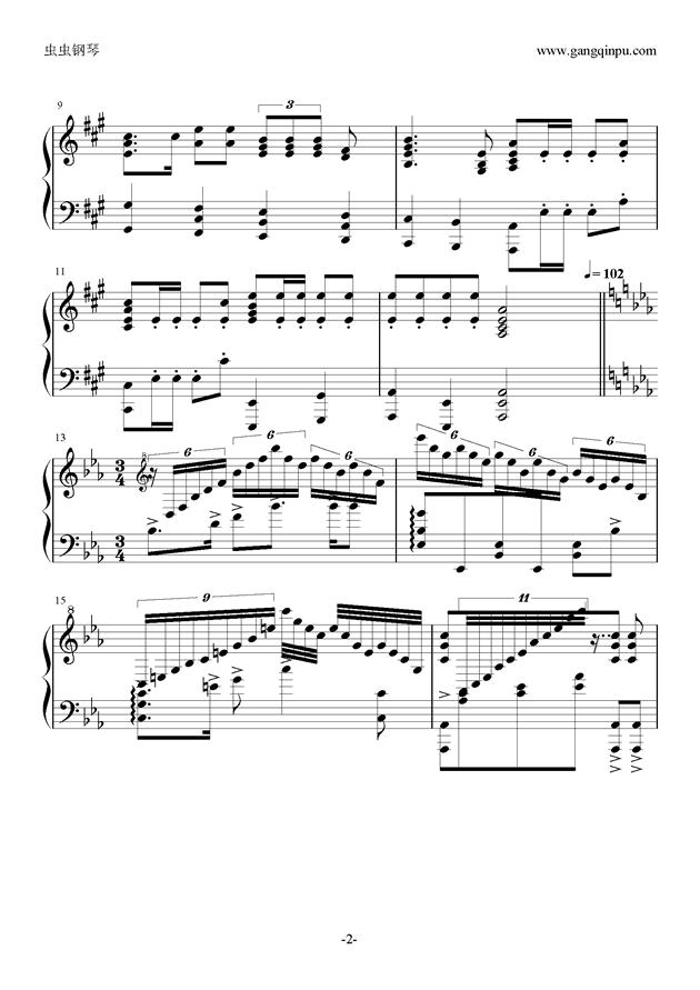 义勇军进行曲ag88环亚娱乐谱 第2页