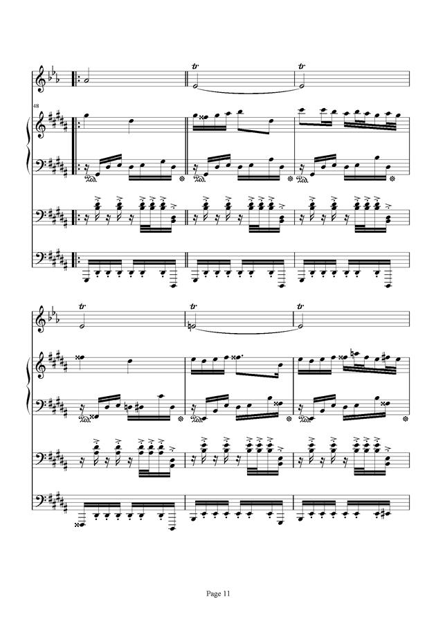 红脸猴贺曲钢琴谱 第11页