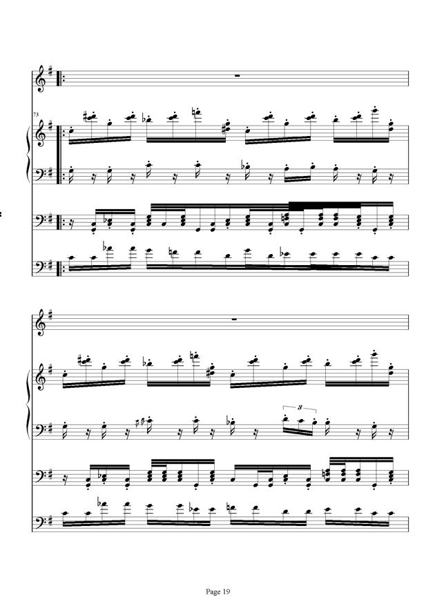 红脸猴贺曲钢琴谱 第19页