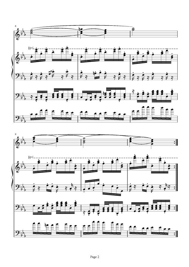 红脸猴贺曲钢琴谱 第2页