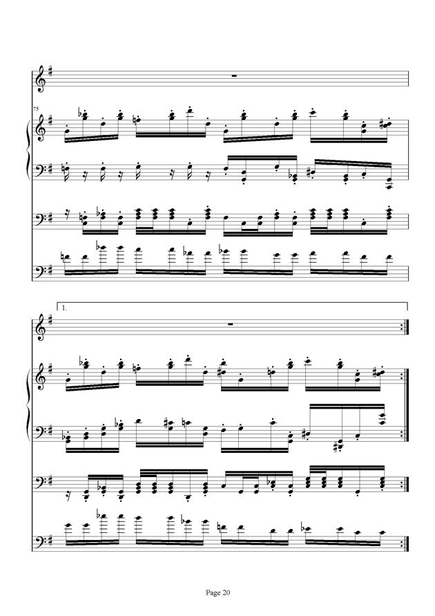 红脸猴贺曲钢琴谱 第20页