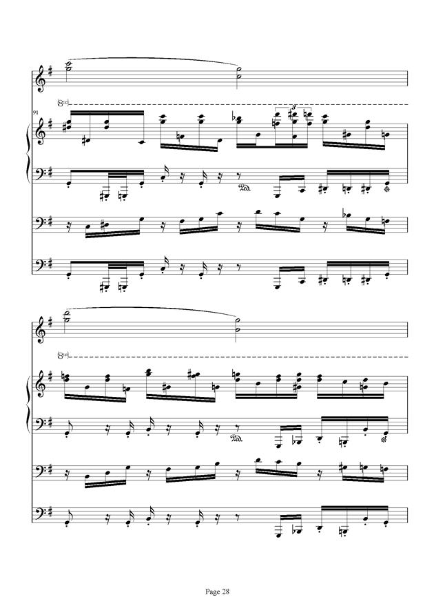 红脸猴贺曲钢琴谱 第28页